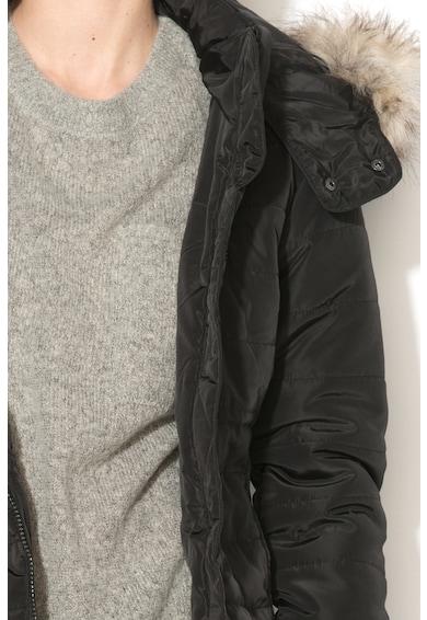 JdY Geaca cu vatelina, gluga si garnitura detasabila de blana sintetica Flash Femei
