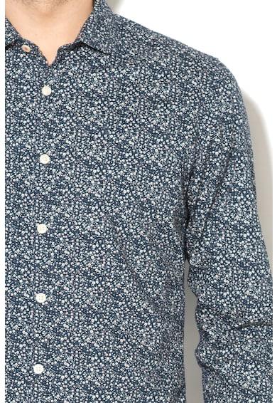 Pepe Jeans London Camasa  cu model floral si mansete cu nasturi Kri Barbati