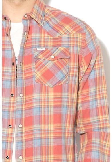Pepe Jeans London Camasa in carouri cu buzunare aplicate Gille Barbati