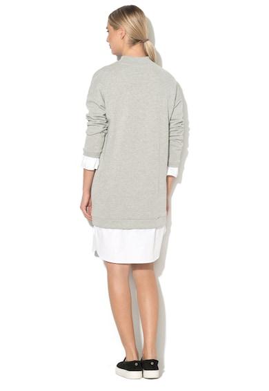 EDC by Esprit Rochie tip bluza sport cu aspect 2 in 1 si guler scurt Femei