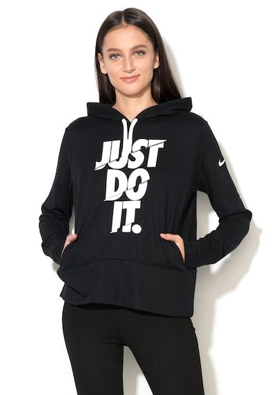 Nike Hanorac sport cu imprimeu cauciucat DRY Femei