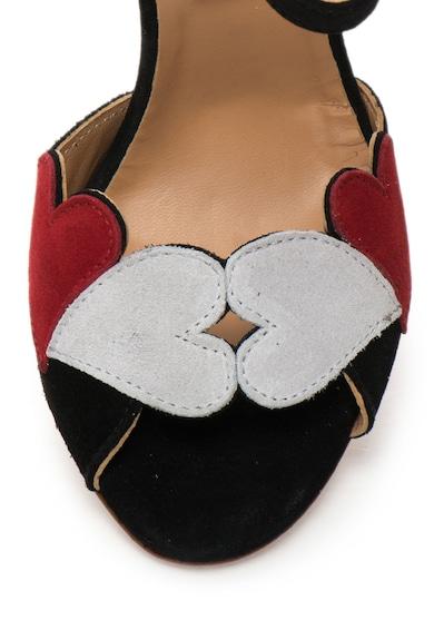 Love Moschino Sandale stiletto de piele intoarsa cu bareta pe glezna Femei