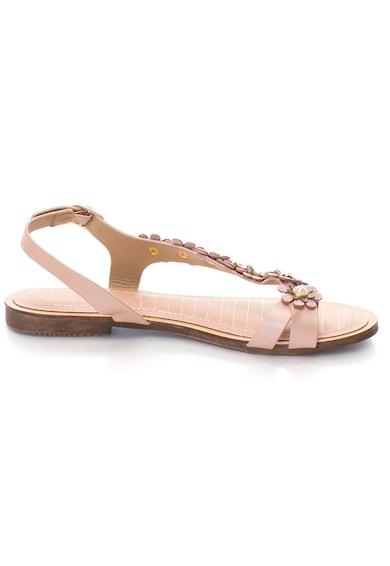 Release Sandale cu barete separatoare accesorizate cu flori,  Piele sintetica Femei