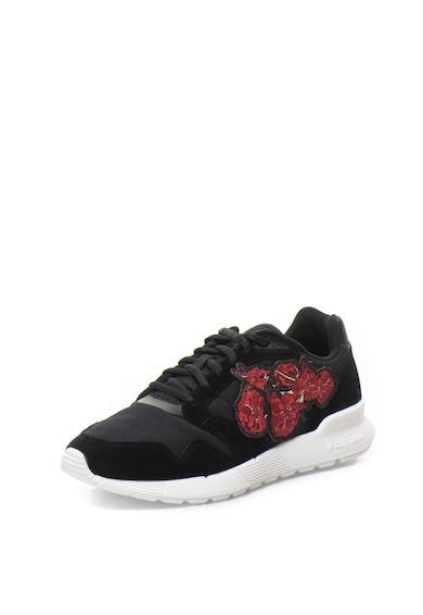 Le Coq Sportif Pantofi sport de piele intoarsa sintetica cu aplicatie brodata Omega X Femei