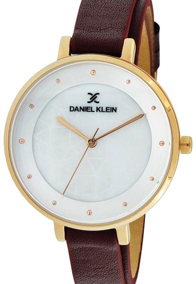 DANIEL KLEIN Ceas rotund cu o curea de piele Femei