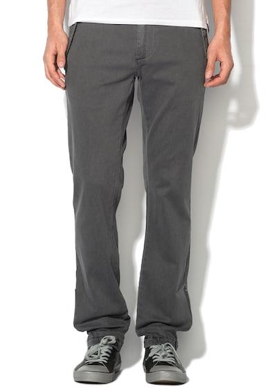 Sisley Pantaloni gri texturati Barbati