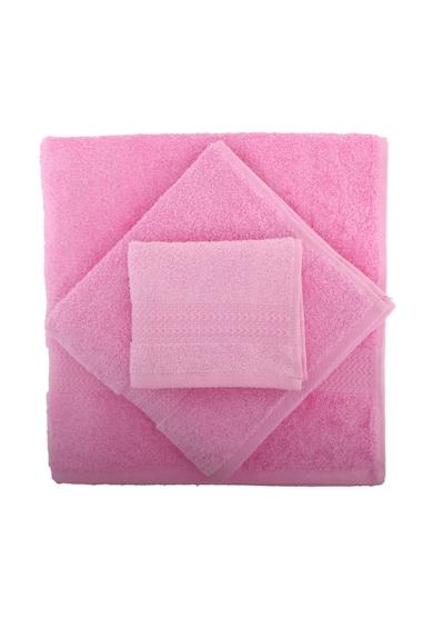 Hobby Set 3 prosoape  Rainbow Pink, 100% bumbac, 30 x 50 cm, 50 x 90 cm, 70 x 140 cm, Roz Femei