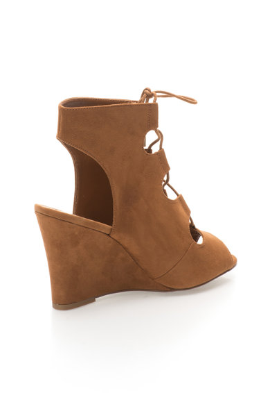 NEW LOOK Sandale wedge maro caramel Femei