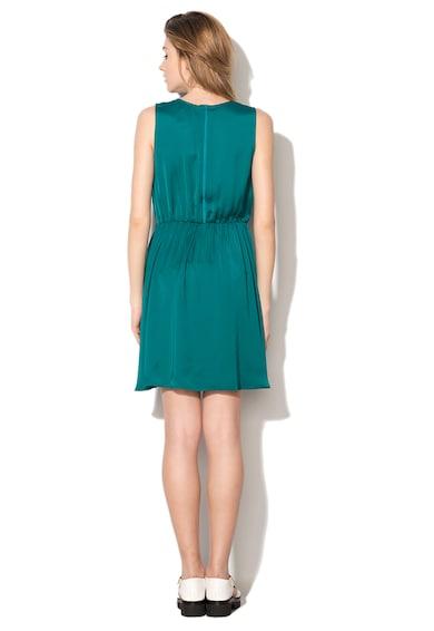 United Colors of Benetton Rochie albastru teal vaporoasa cu talie elastica Femei