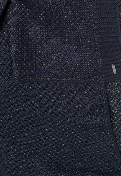 Pepe Jeans London Fular tricotat albastru indigo cu fir argintiu Fen Femei