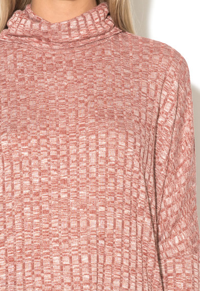 b.young Bluza rosie melange cu guler inalt Uhanna Femei