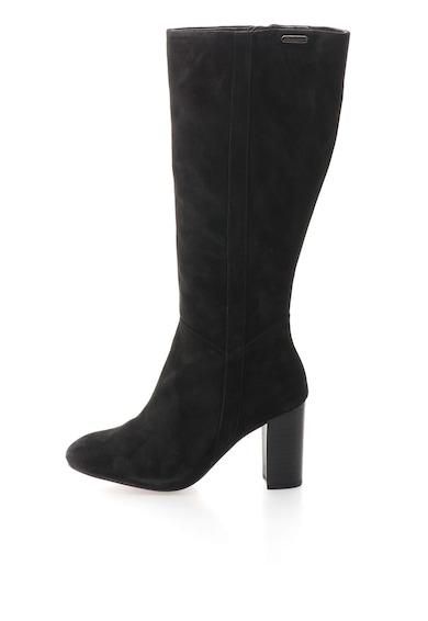 Pepe Jeans London Cizme negre de piele intoarsa Femei