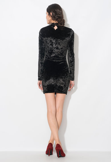Zee Lane Collection Rochie scurta neagra catifelata Femei
