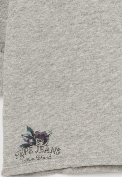 Pepe Jeans London Bluza sport gri melange cu imprimeu Hulda Fete