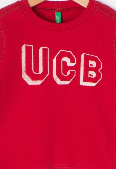 United Colors of Benetton Bluza sport rosie cu imprimeu text Baieti