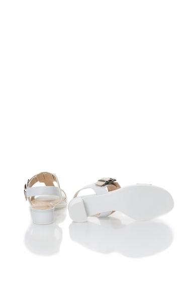 Calvin Klein Sandale alb cu bej din piele Cady Femei