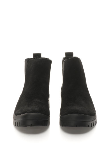 Calvin Klein Jeans Ghete Chelsea negre de piele intoarsa Hugo Barbati