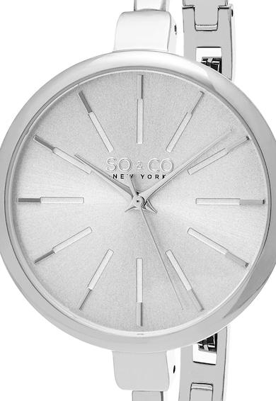 SO&CO New York Set argintiu cu ceas si bratari Madison Femei
