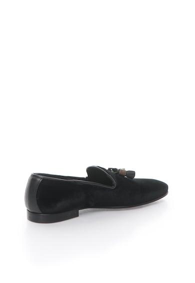 Zee Lane Pantofi loafer negri catifelati Barbati