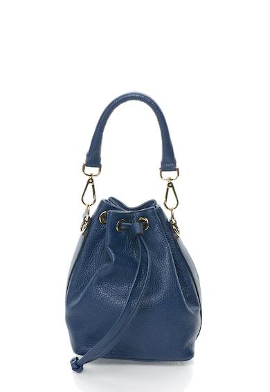 Zee Lane Geanta bucket mica bleumarin de piele Femei