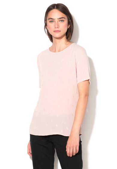Esprit Bluza roz prafuit cu maneci scurte Femei