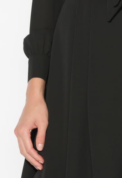 Zee Lane Collection Rochie neagra din sifon cu funda din panglici Femei
