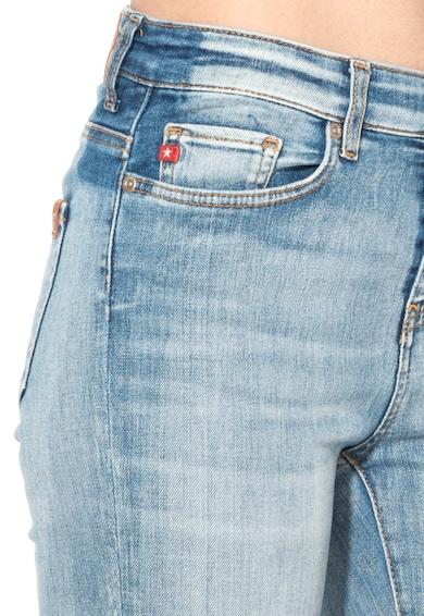 Big Star Jeansi slim fit skinny conici bleu cu aspect uzat Adela Femei