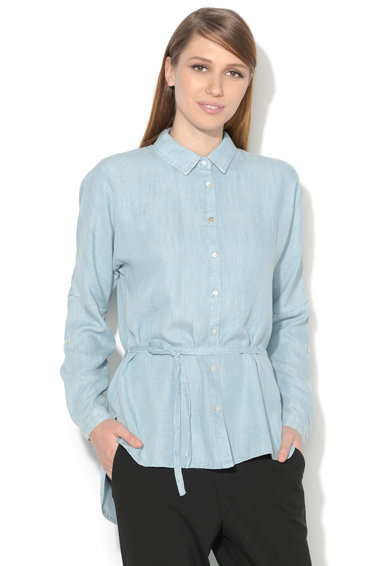 Esprit Camasa bleu din lyocell cu un cordon Femei