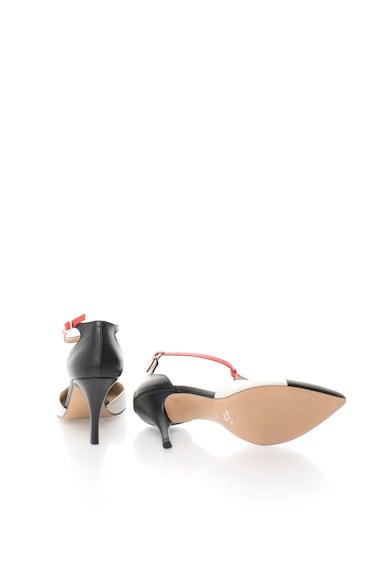 Zee Lane Pantofi tricolori cu bareta in forma de T de piele Femei