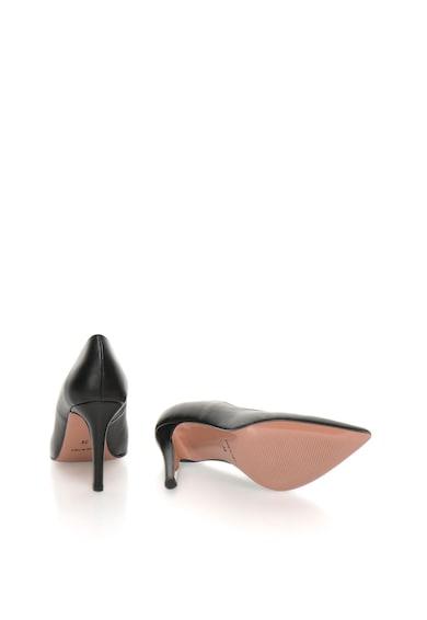 Zee Lane Pantofi negri de piele cu varf ascutit Anne Femei