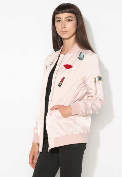 Zee Lane Denim Jacheta bomber roz pal Femei