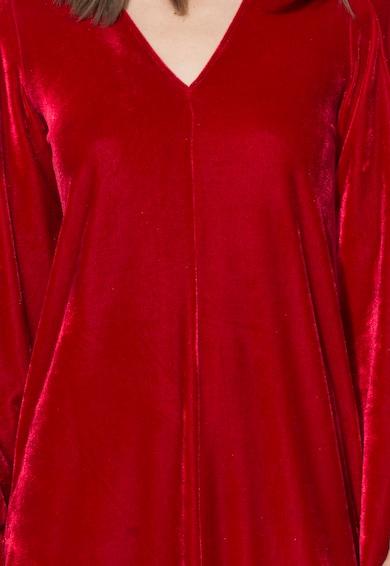 Zee Lane Collection Rochie rosie catifelata cu maneci evazate Femei