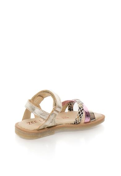 Zee Lane Sandale aurii de piele cu detalii stralucitoare Fete