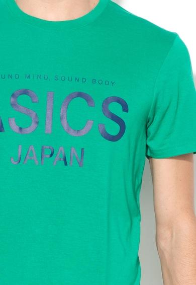 Asics Tricou verde inchis cu imprimeu logo frontal Barbati