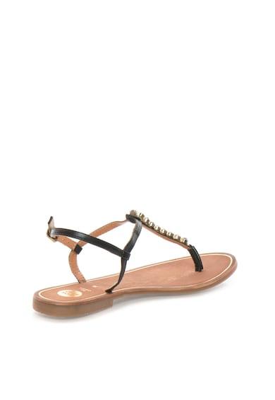 Gioseppo Sandale negre de piele cu bareta T Soirans Femei