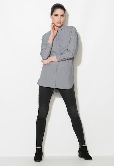 Zee Lane Denim Camasa negru stins cu alb in dungi Femei