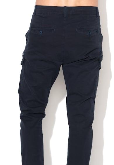 Zee Lane Denim Pantaloni cargo bleumarin inchis Barbati