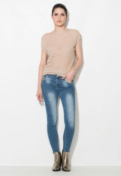 Zee Lane Denim Jeansi skinny albastri cu strasuri Femei