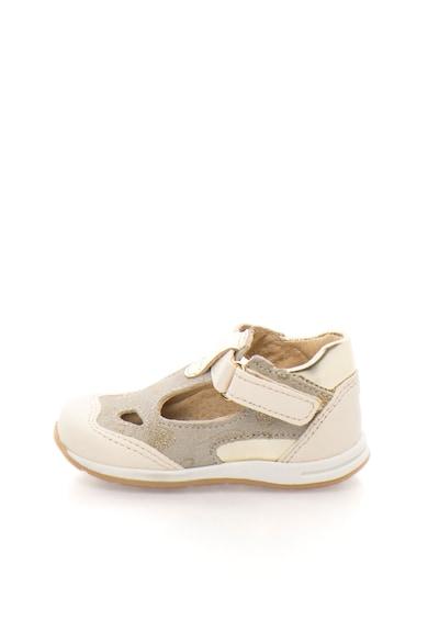 Zee Lane Pantofi grej si alb fildes cu velcro Fete