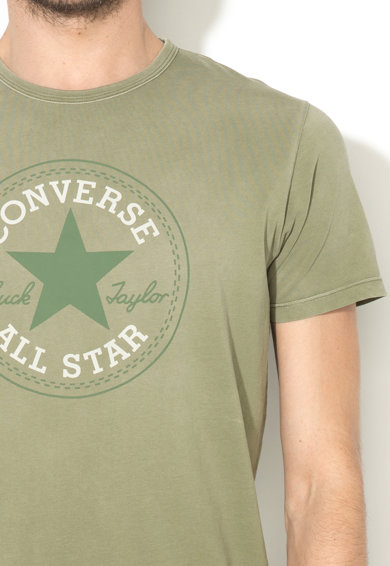 Converse Tricou verde oliv stins cu imprimeu logo Barbati
