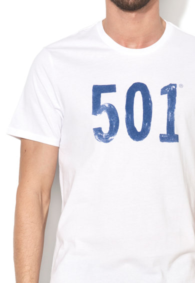 Levi's Tricou alb cu imprimeu 501® Barbati