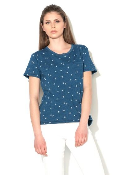 Levi's Tricou albastru indigo cu margarete Femei