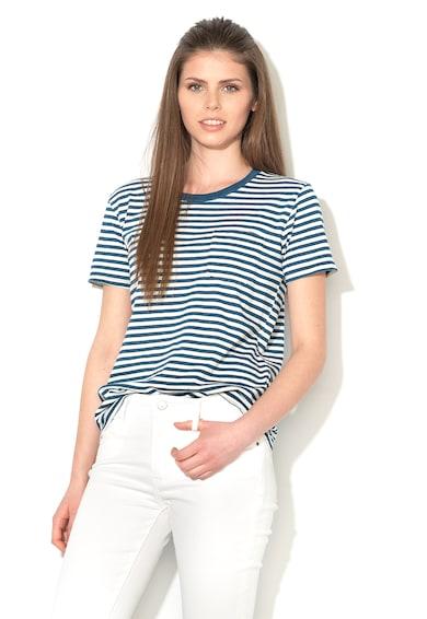 Levi's Tricou albastru cu alb in dungi Femei