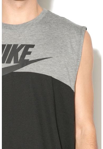 Nike Top sport cu garnituri de plasa Barbati