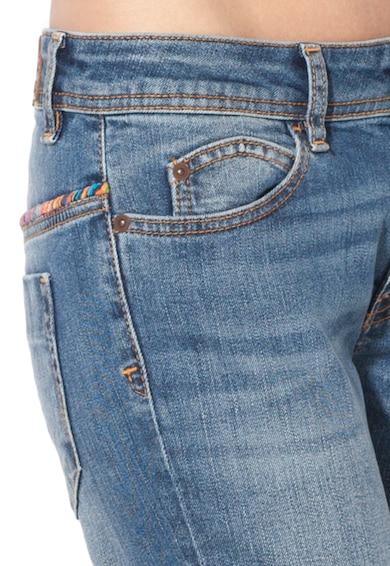 JUST CAVALLI Jeansi conici albastri cu aspect decolorat Femei