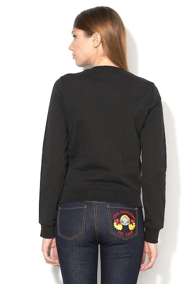 Love Moschino Bluza sport neagra cu imprimeu Femei