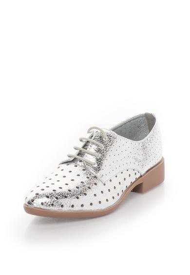 Francesco Milano Pantofi argintii cu model perforat Femei