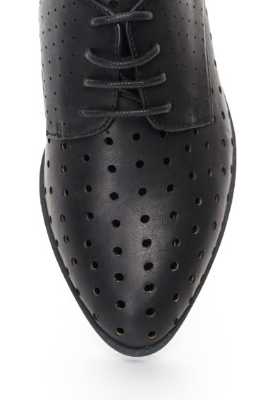 Francesco Milano Pantofi negri cu model perforat Femei