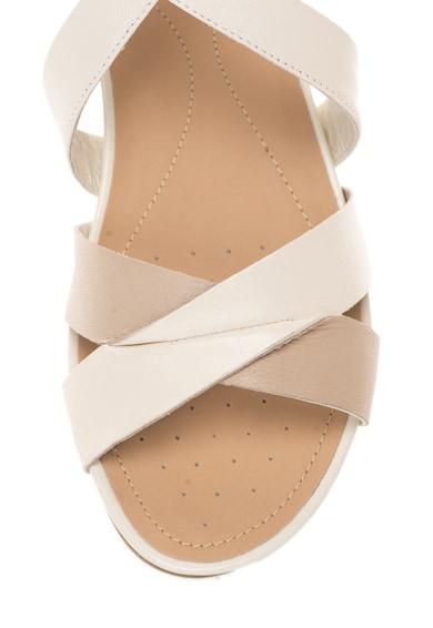 Geox Sandale alb prafuit cu maro taupe de piele Formosa Femei