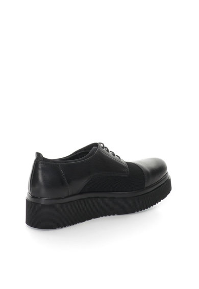 Zee Lane Pantofi negri de piele si plasa cu talpa wedge Femei